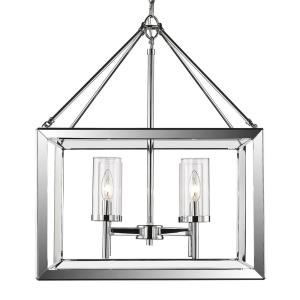 Smyth Chandelier 4 Light  Steel