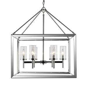 Smyth Chandelier 6 Light  Steel