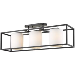 Manhattan 3 Light Semi-Flush Ceiling Light