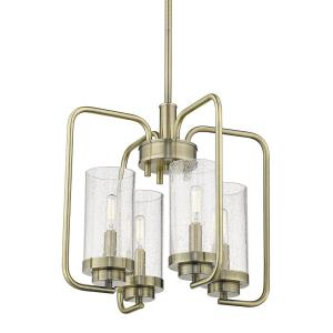 Holden Chandelier 4 Light  Steel