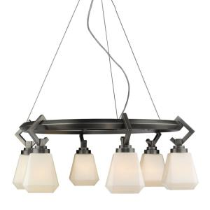 Hollis Chandelier 6 Light  Steel