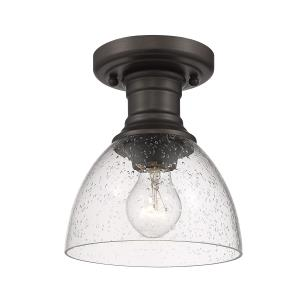 Hines Transitional 1 Light Semi-Flush Celing  Steel