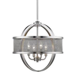 Colson - 4 Light Chandelier in Durable style - 18.75 Inches high by 17.5 Inches wide