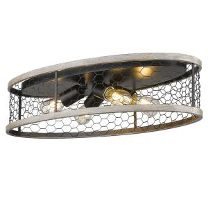 Bailey Four Light Flush Mount - 24 Inch