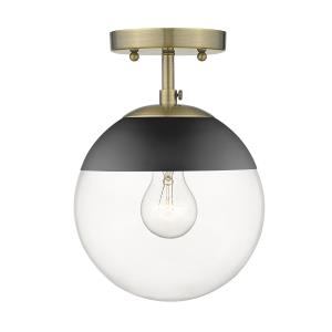 Dixon  1 Light Semi-Flush Celing  Steel