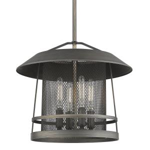 Parsons - 4 Light Pendant in Rustic style - 56.88 Inches high by 14.13 Inches wide