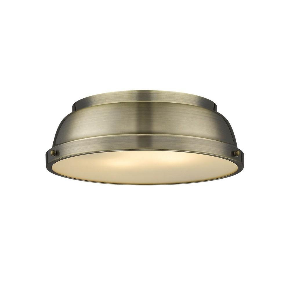 "AFX Lighting 14/"" Contemporary Ceiling Light Mushroom Style Cloud White Finish"