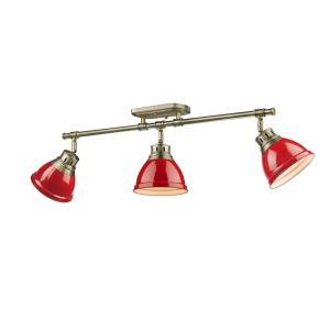 Duncan - Three Light Semi-Flush Mount Track Light