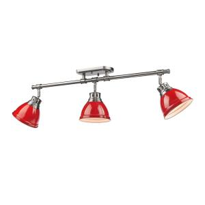 Duncan - 3 Light Adjustable Semi-Flush Track Light