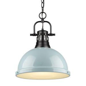 Duncan - 1 Light Chain Pendant in Classic style - 16.88 Inches high by 14 Inches wide