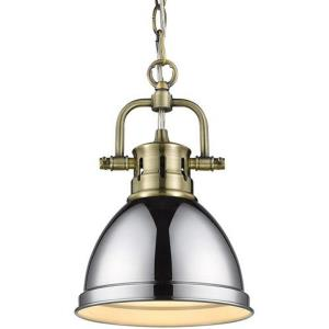 Duncan - 1 Light Mini Pendant with Chain in Classic style - 10.25 Inches high by 6.5 Inches wide