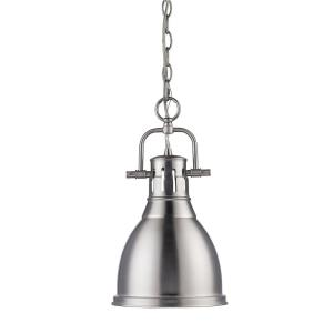 Duncan - 1 Light Small Pendant with Chain in Classic style - 16.5 Inches high by 8.875 Inches wide
