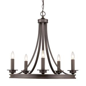 Saldano Chandelier 5 Light  Steel