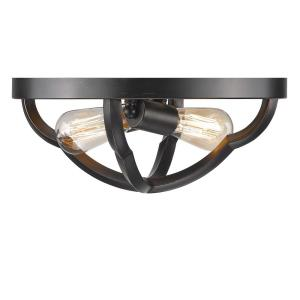Saxon - 2 Light Flush Mount Ceiling Light