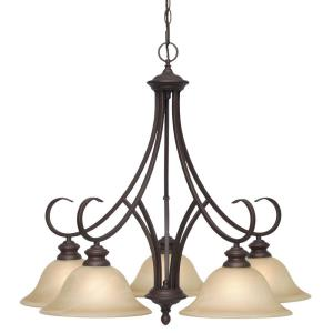 Lancaster - Nook Chandelier 5 Light in Casual style - 26.5 Inches high by 28 Inches wide