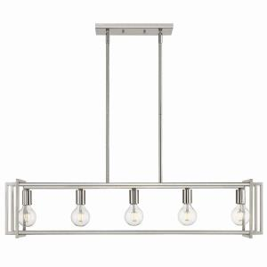 Tribeca - 5 Light Linear Pendant in Variety of style - 9.25 Inches high by 41 Inches wide