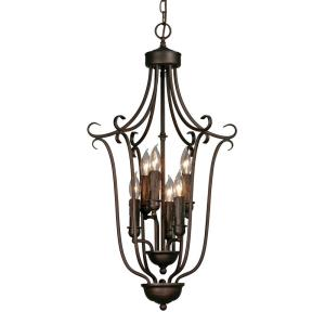 6 Light Caged Foyer Light
