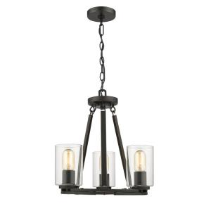 Monroe Convertible Chandelier 3 Light  Steel