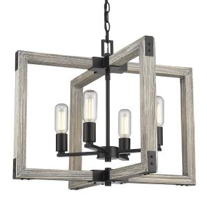 Lowell Chandelier 4 Light  Steel