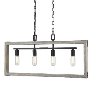 Lowell - 4 Light Linear Pendant