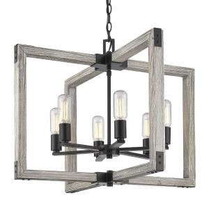 Lowell Chandelier 6 Light  Steel