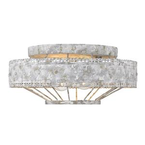 Ferris - 2 Light Flush Mount in Vintage style - 6 Inches high by 14 Inches wide