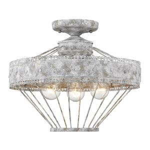 Ferris - 3 Light Semi-Flush Mount in Vintage style - 12.25 Inches high by 15 Inches wide