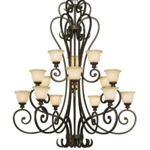 Heartwood - 3 Tier Chandelier in Variety of style - 62.25 Inches high by 47.5 Inches wide