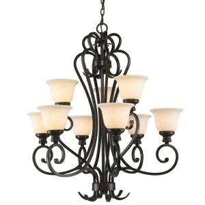 Heartwood 2 Tier Chandelier