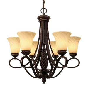 Torbellino - Chandelier 6 Light in Variety of style - 28.5 Inches high by 27.5 Inches wide