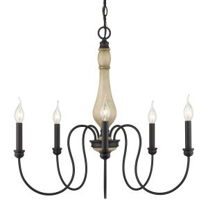 Suzette Chandelier 5 Light  Steel