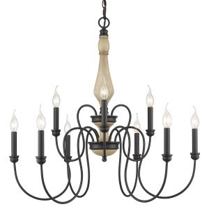 Suzette Chandelier 9 Light  Steel