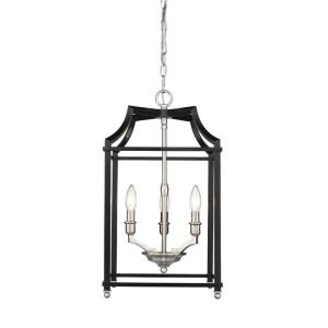 Leighton - 3 Light Pendant in Sturdy style - 21.75 Inches high by 11.75 Inches wide
