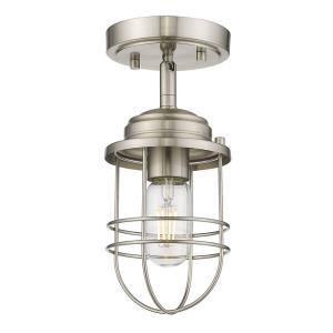 Seaport - 1 Light Semi-Flush Mount