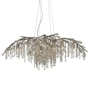 Autumn Twilight Large Chandelier 12 Light  Steel/Crystal