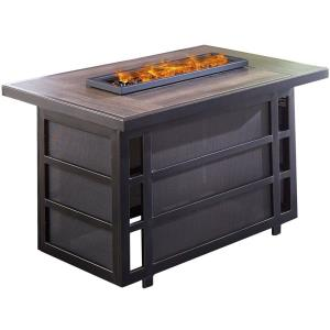 Chateau - Rectangle Kd Fire Pit with Drop- In- Tile Top