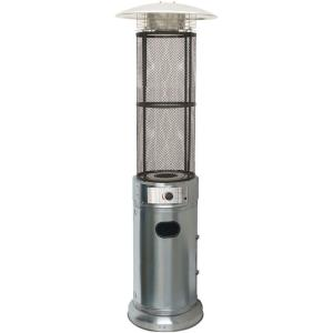 "84"" Liquid Propane Cylinder Flame Glass Patio Heater"