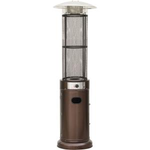 "84"" Liquid Propane Cylinder Flame Glass Patio Heater"
