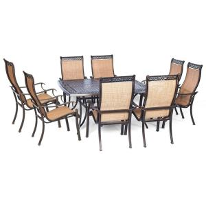 "Manor - 60"" 9-Piece Dining Set Square Table"