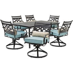 "Montclair - 66"" 7 Piece Dining Set with 6 Swivel Rockers"