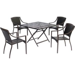 Orleans - 5-Piece Woven Dining Set