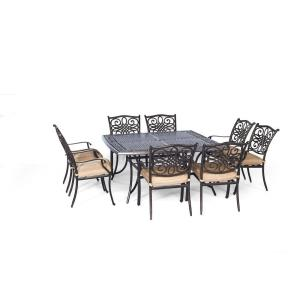 "Traditions - 60"" 9-Piece Square Dining Set"