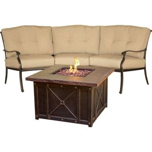 "Traditions - 97.64"" 2-Piece Chat Set with Fire Pit"