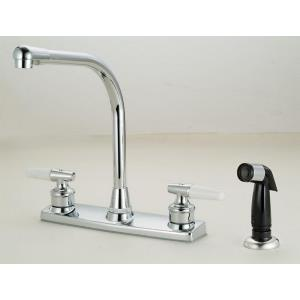 "13.25"" Double Handle Kitchen Faucet with Spray"