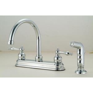 "10.25"" Double Handle Kitchen Faucet with Spray"