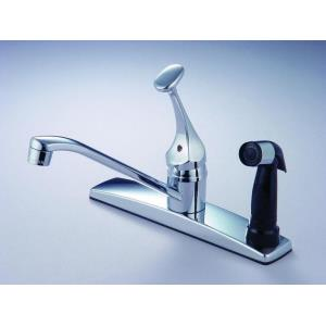 "10"" Single Handle Kitchen Faucet with Spray"