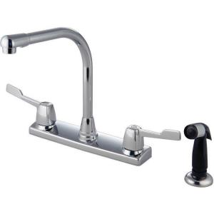 "13"" Double Handle Kitchen Faucet with Spray"