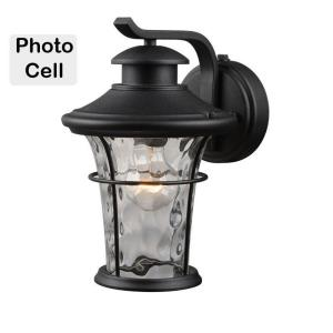 """11.25"""" One Light Outdoor Photocell Wall Lantern"""