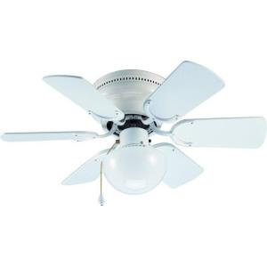Arcadia - 30Inch 6 Blade Ceiling Fan with Light Kit and Pull Chain Control