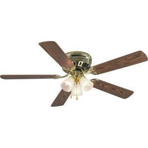 Bermuda - 52Inch 5 Blade Ceiling Fan with Light Kit and Pull Chain Control